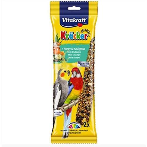 Vitakraft Kracker Parkeet And Cockatiel Stick Treats With Honey And Eucalyptus 180g To 5 X 180g