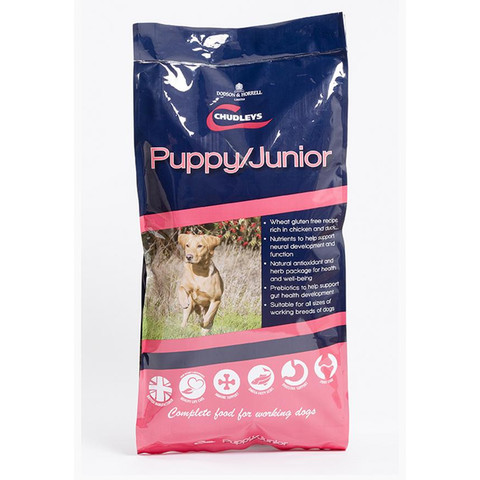 Chudleys Puppy And Junior Dog Food 12kg