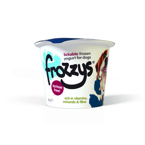 Frozzys Lickable Frozen Blueberry Yoghurt Treat For Dogs 85g To 24 X 85g