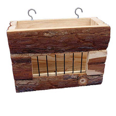 Happy Pet Raw Wooden Small Animal Hay Rack
