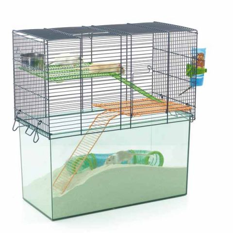 savic habitat metro gerbil and hamster cage 52x26x52cm. Black Bedroom Furniture Sets. Home Design Ideas