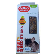 Happy Pet Critters Choice Small Animal Fruity Seed Sticks Treat 2 Pack