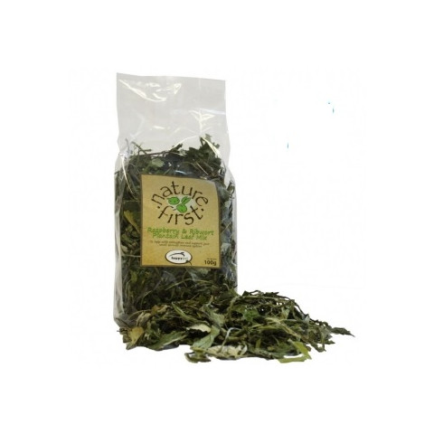 Happy Pet Nature First Small Animal Raspberry And Major Plaintain Leaf Mix 100g To 3 X 100g