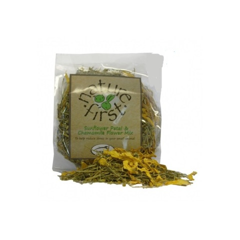 Happy Pet Nature First Small Animal Sunflower Petal And Chamomile Flower Mix 50g To 3 X 50g