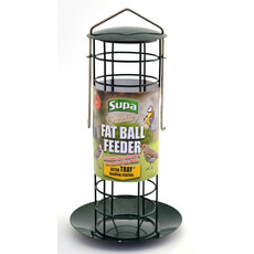 Supa Premium Metal Fat Ball Feeder With Tray