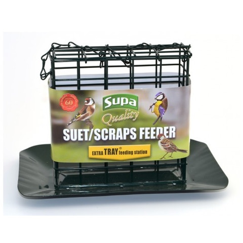 Supa Premium Metal Suet Block And Scraps Feeder With Tray