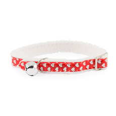 Ancol Reflective Gloss Red Hearts Cat Collar