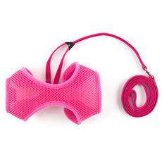 Ancol Pink Soft Cat Harness And Lead Set Medium