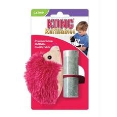Kong Bright Hedgehog Refillable Catnip Cat Toy