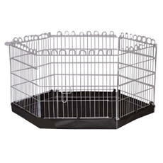 3petzzz Metal Pet Play Pen 6 Sided With Base 63x76cm