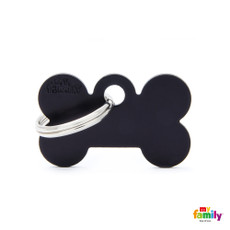 My Family Black Bone Pet Name Id Tag With Free Engraving Small