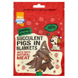 Armitage Pawsley Christmas Succulent Pigs In Blankets Dog Treats 80g