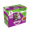 Whiskas Adult 1+ Cat Pouches Fish & Meat Selection In Jelly 4 X 12x100g