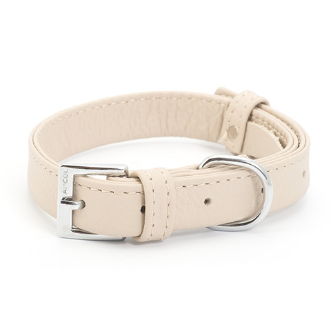 Ancol Indulgence Folded Leather Soft Truffle Buckle Dog Collar Small