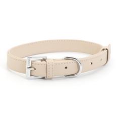 Ancol Indulgence Folded Leather Soft Truffle Buckle Dog Collar Meduim