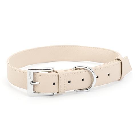 Ancol Indulgence Folded Leather Soft Truffle Buckle Dog Collar Large