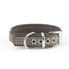 Ancol Indulgence Leather Country Check Buckle Dog Collar X Small