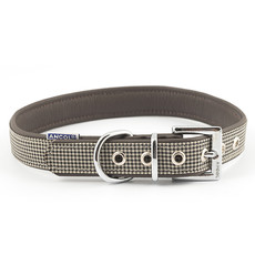 Ancol Indulgence Leather Country Check Buckle Dog Collar Large