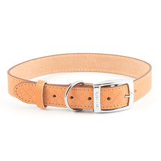 Ancol Heritage Diamond Leather Tan Buckle Dog Collar Large