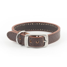 Ancol Heritage Diamond Leather Brown Buckle Dog Collar X Small