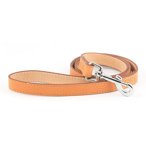 Ancol Heritage Diamond Leather Tan Dog Lead 19mm X 1m