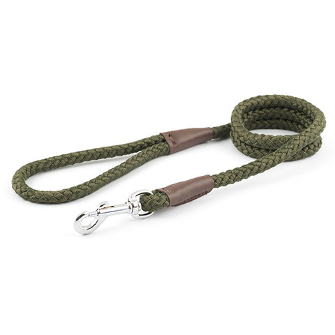 Ancol Heritage Nylon Green Rope Dog Lead 107cm
