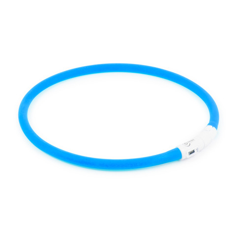 Ancol High Visibility Halo Safety Band Blue Flashing Dog Collar One Size