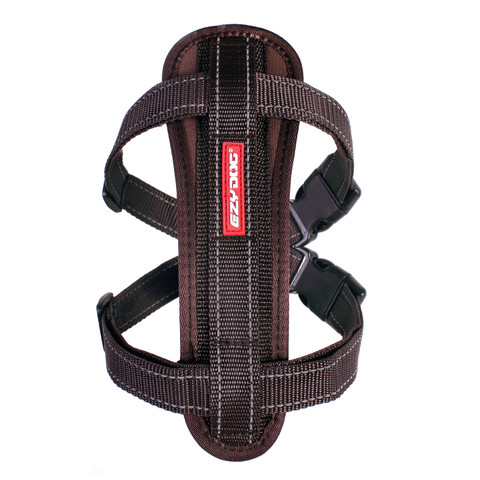 Ezy Dog Chocolate Chest Plate Dog Harness Small