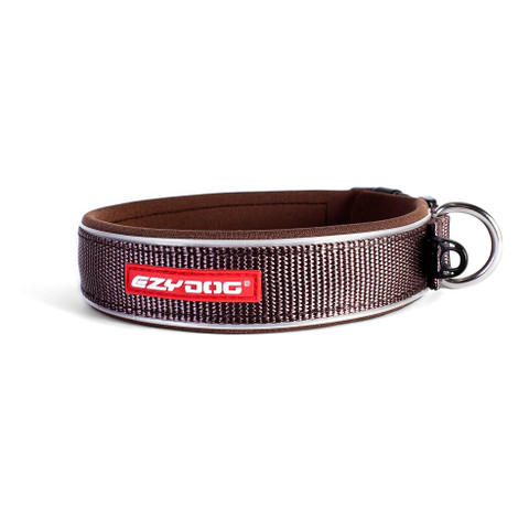 Ezy Dog Chocolate Neo Dog Collar Medium