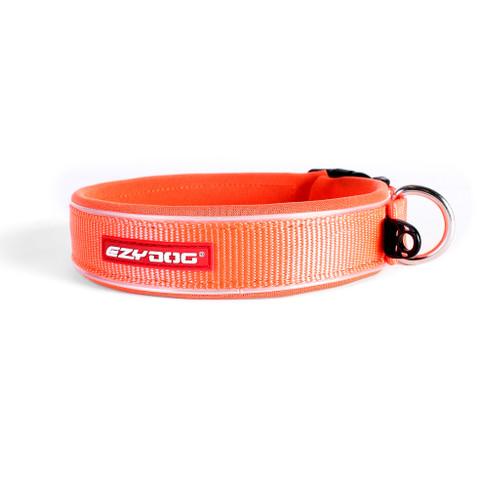 Ezy Dog Blaze Orange Neo Dog Collar Small