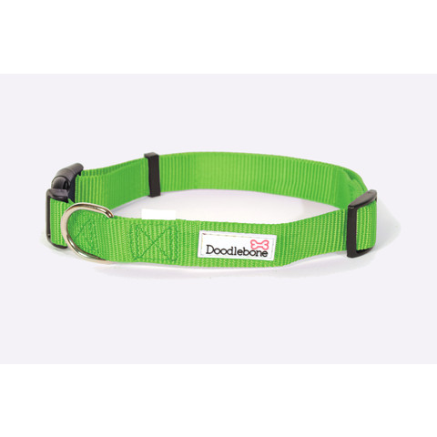 Doodlebone Lime Green Adjustable Dog Collar X Small