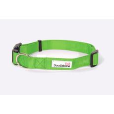 Doodlebone Lime Green Adjustable Dog Collar Medium