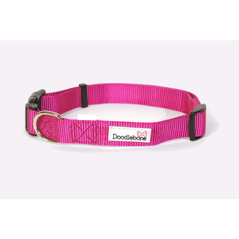 Doodlebone Pink Adjustable Dog Collar Large