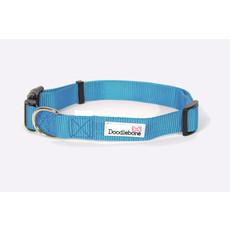 Doodlebone Cyan Blue Adjustable Dog Collar Medium