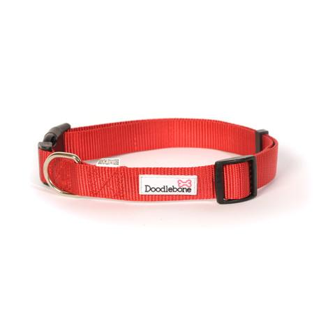 Doodlebone Red Adjustable Dog Collar X Large