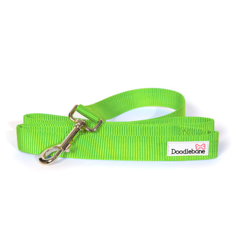 (d)doodlebone Lime Green Dog Lead 1.3m X 2cm