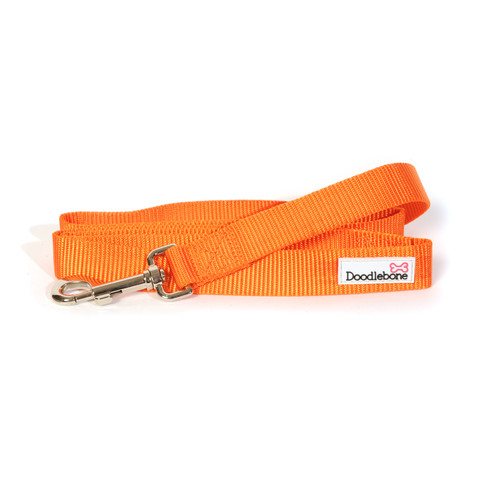 Doodlebone Orange Dog Lead 1.3m X 2cm