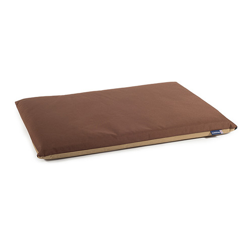 (d) Ancol Beige And Brown Waterproof Pad Dog Bed 76cmx53cm
