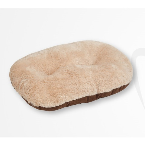 Gor Pets Nordic Brown Faux Fur Oval Cushion Bed 80cm