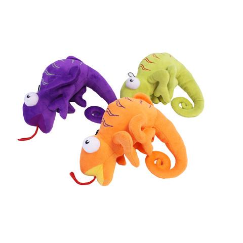 Happy Pet Crafty Creature Chameleon Dog Toy
