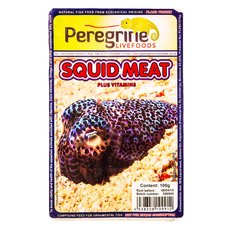 Peregrine Livefoods Frozen Blister Pack Squid Meat 100g