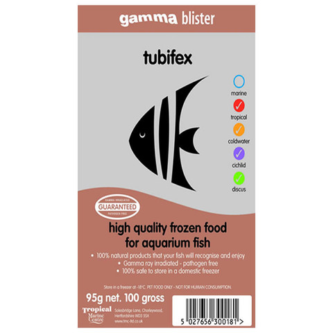 Peregrine Livefoods Frozen Gamma Blister Pack Tubiflex 95g