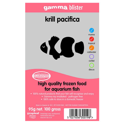 Peregrine Livefoods Frozen Gamma Blister Pack Krill Pacifica 95g