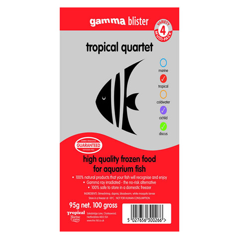 Peregrine Livefoods Frozen Gamma Blister Pack Tropical Quintet 95g