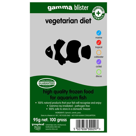 Peregrine Livefoods Frozen Gamma Blister Pack Vegetarian Diet 95g