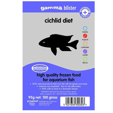 Peregrine Livefoods Frozen Gamma Blister Pack Cichlid Diet 95g