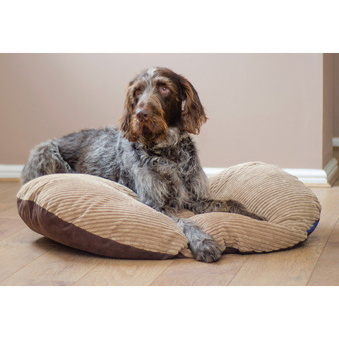 Ancol Sleepy Paws Timberwolf Extreme Oval Cushion Dog Bed 75x55cm