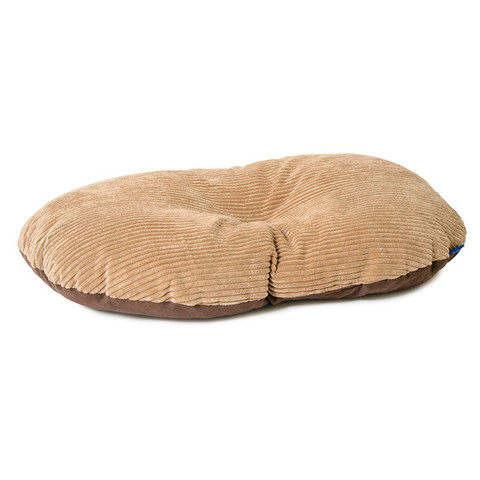 Ancol Sleepy Paws Timberwolf Extreme Oval Cushion Dog Bed 100x60cm