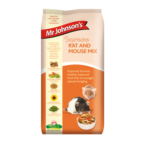Mr Johnsons Supreme Rat And Mouse Mix Food 900g To 6 X 900g