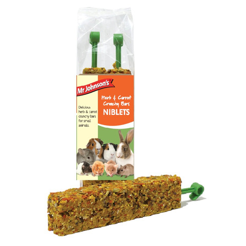 Mr Johnsons Herb And Carrot Crunchy Bars Niblets 2 Pack To 8 X 2 Pack